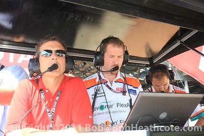 Scott Pruett and Novo Nordisk Chip Ganassi Racing race control