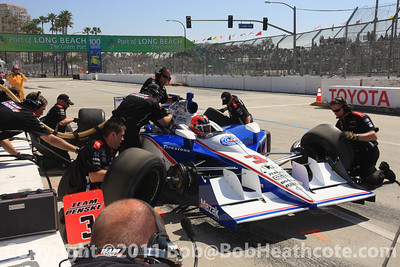 Pitstop practice for Team Penske, Helio Castroneves
