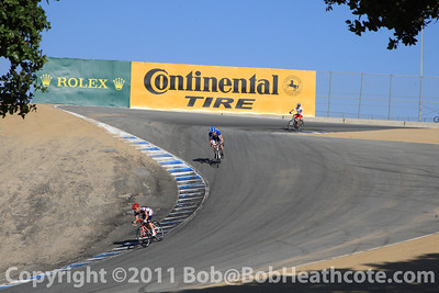 Twilight bike ride as drivers and fans had a chance to ride together around Mazda Raceway Laguna Seca Thursday evening