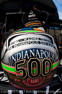 Alex Tagliani, helmet of
