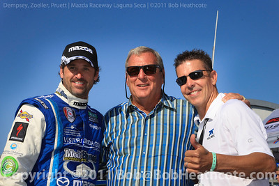 Patrick Dempsey, Fuzzy Zoeller and Scott Pruett