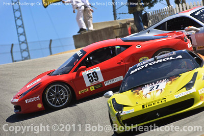 2011 Ferrari Racing Days at Mazda Raceway Laguna Seca crash