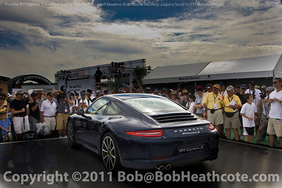 Porsche 911 Carrera S unvieled at Porsche Rennsport Reunion IV at Mazda Raceway Laguna Seca
