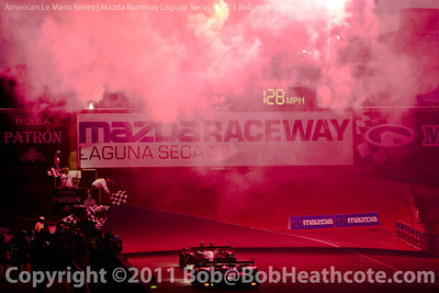 Checkered flag for the 2011 ModSpace American Le Mans Monterey presented by Patrón
