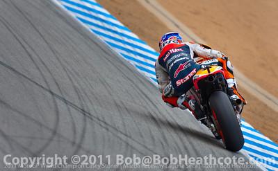 Race winner and 2011 MotoGP World Champion Casey Stoner