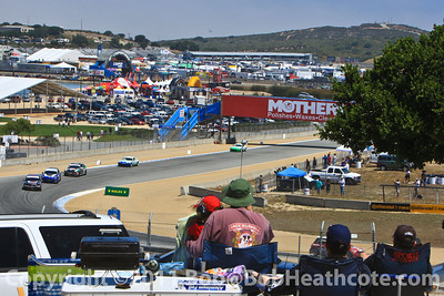 From their campsite, fans enjoying the Continental Tire Sports Car Festival, powered by Mazda at Mazda Raceway Laguna Seca