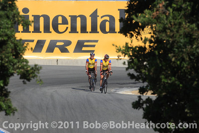 Twilight bike ride for drivers and fans as the ride around Mazda Raceway Laguna Seca