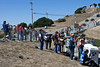 Fans and pro photographers waiting for the start of the 2011 ModSpace American Le Mans Monterey presented by Patrón