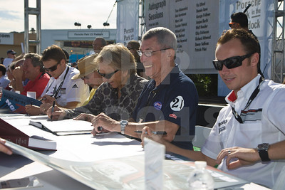 Autograph session for the Porsche Rennsport Reunion IV