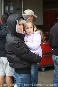 Fans young and old enjoying the races!