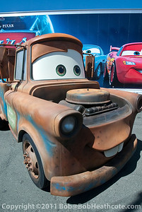 """Cars"" character and real-life show car ""Tow Mater"""