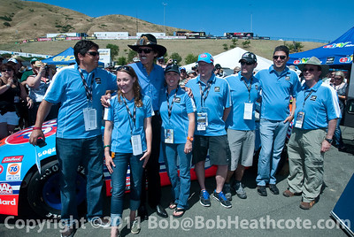 Richard Petty with the eBay Motors team