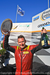 Superstarts of Superkarts race winner and European Champion Gavin Bennett