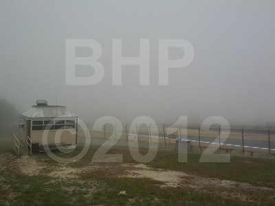 Fog delayed the start of track action by about one hour Saturday morning