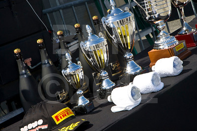 Trophies ready for the Ferrari 458 Challenge podium celebration