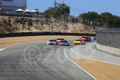 Race start 2012 Ferrari Racing Days at Mazda Raceway Laguna Seca by Bob Heathcote
