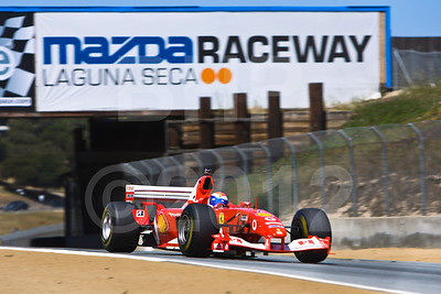 Marc Gene in Bud Moeller's Ferrari F2003GA historic Formula 1 car - former Rubens Barrichello