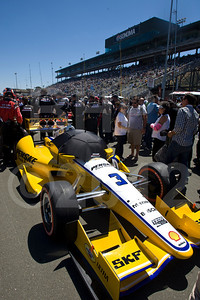 car of Helio Castroneves