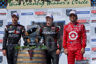 Will Power, Ryan Briscoe, and Dario Franchitti