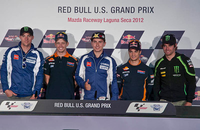 Qualifying press confernece with Ben Spies, Casey Stoner, Jorge Lorenzo, Dani Pedrosa, Cal Crutchlow