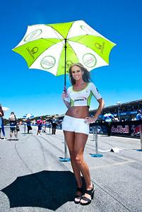 Umbrella girl for Pramac Racing Team Ducati