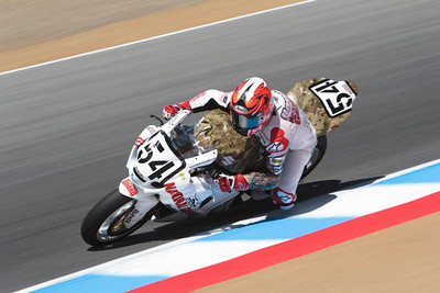 AMA Superbike rider Roger Hayden, National Guard Jordan Suzuki