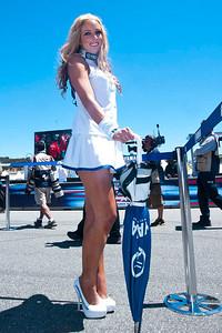 Umbrella girl for Yamaha Factory Racing