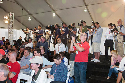 Photographers and other media in the Thursday press confernece