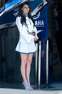 Umbreall girl for Yamaha Factory Racing