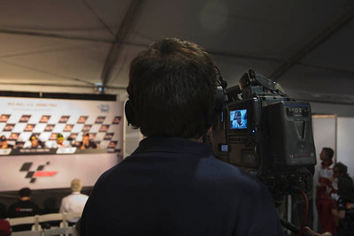 Every press confernece is video recorded and shown on the motogp.com website