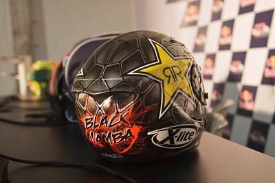 The Black Mamba helmet of Jorge Lorenzo