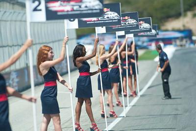 Grid Girls for the 2012 Red Bull USGP MotoGP at Mazda Raceway Laguna Seca