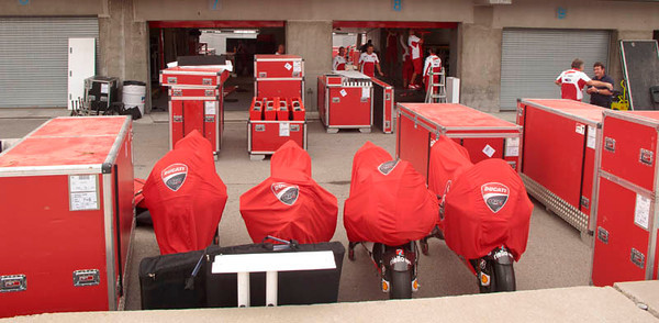 Ducati bikes and crates
