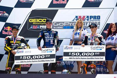 AMA Sportbike race podium