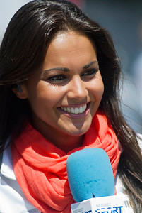 "Known in Spain as ""The Girl with the Golden Smile, Lara Álvarez is a MotoGP reporter for Telecinco"