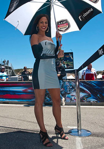 Umbrella girl for LCR Honda MotoGP