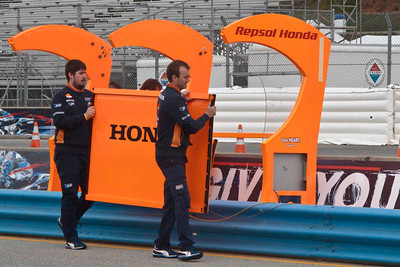 Wednesday setup for the 2012 Red Bull USGP MotoGP at Mazda Raceway Laguna Seca