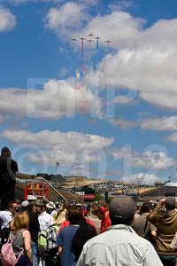 Pre-race aerial demonstration