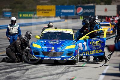 Pitstop for #41 Charles Espenlaub, Charles Putman: Dempsey Racing Mazda RX-8