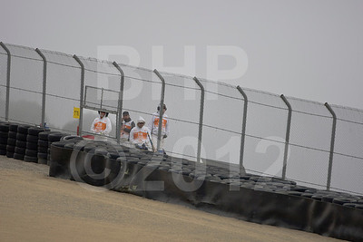 Course workers in the fog