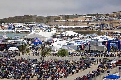 View over Yamaha Marketplace during the 2012 Red Bull USGP MotoGP at Mazda Raceway Laguna Seca