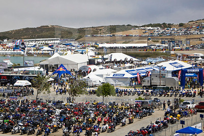 View over Yamaha Marketplace during the 2012 Red Bull USGP MotoGP at Mazda Raceway Laguna Seca