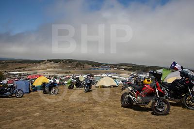 Fox Hill motorcycle camping at 2012 Red Bull USGP MotoGP at Mazda Raceway Laguna Seca