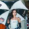 Umbrella girl for LCR Honda MotoGP