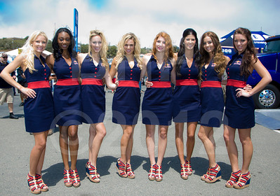 Grid Girls for the 2012 Red Bull USGP MotoGP at Mazda Raceway Laguna Seca