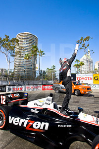 Celebrating victory, Will Power, Verizon Team Penske Chevrolet