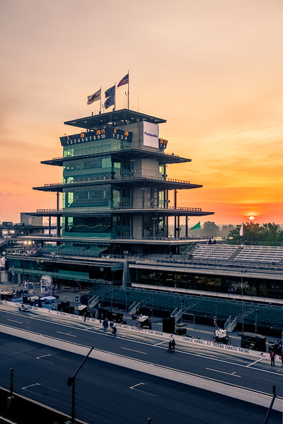 Sunrise at the Indianapolis Motor Speedway