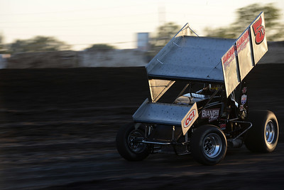 Seth Nunes wins the first heat of Points Race No. 12 on Friday, July 29, 2016, at the Silver Dollar Speedway in Chico, California. (Dan Reidel -- Enterprise-Record)