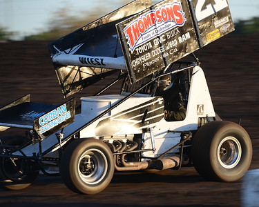 Colby Wiesz races during Points Race No. 12 on Friday, July 29, 2016, at the Silver Dollar Speedway in Chico, California. (Dan Reidel -- Enterprise-Record)