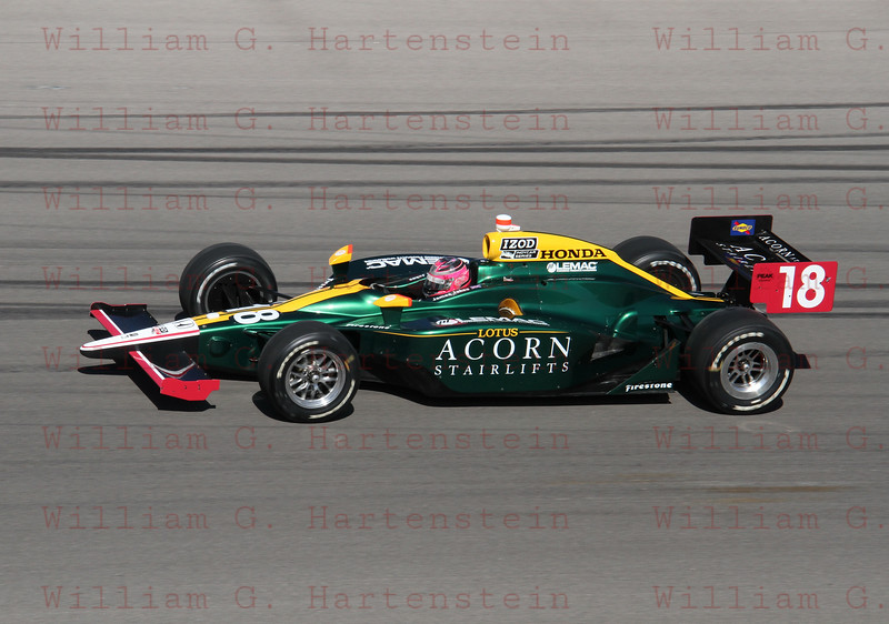 Driver James Jakes #18 does a 5 lap tribute in honor of Dan Wheldon.